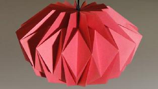Lamp of vaas vouwen van papier